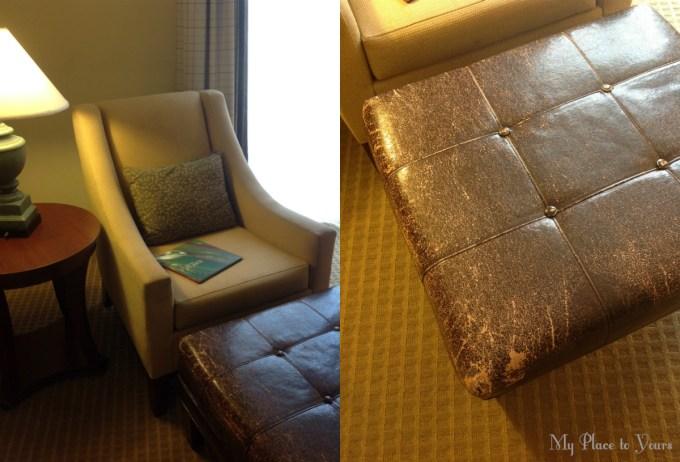 comfortable chair ottoman