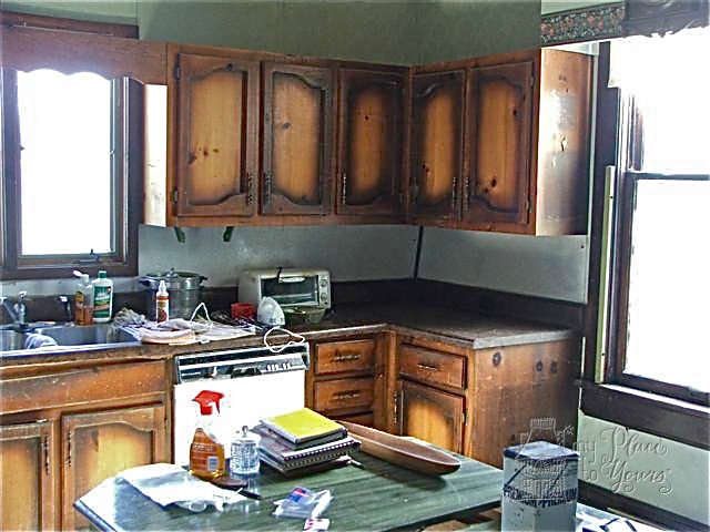 Old house kitchen before