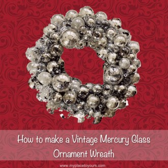 How to make a MERCURY GLASS WREATH from old ornaments