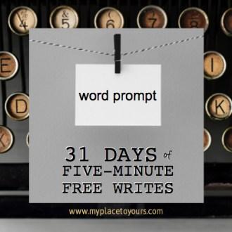 INSPIRATION & FAITH Free Writes – for 31 Days!