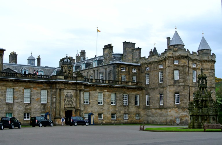 The Palace of Holyrood House in Edinburgh, Scotland.