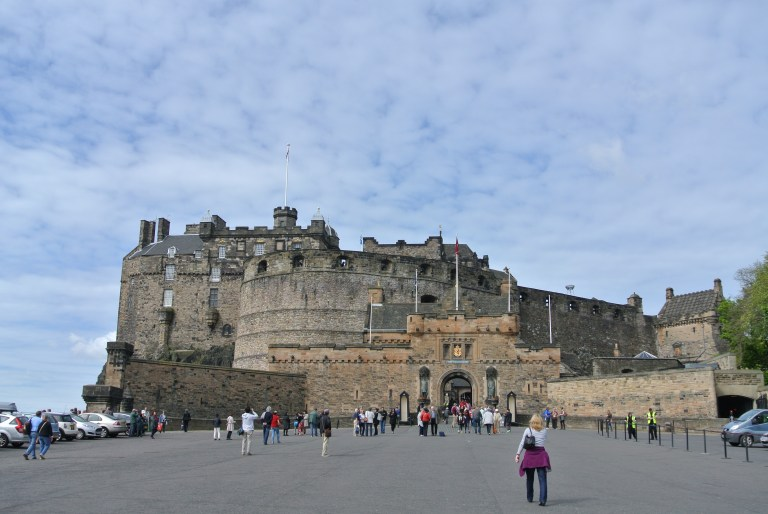 The esplanade at Edinburgh Castle.