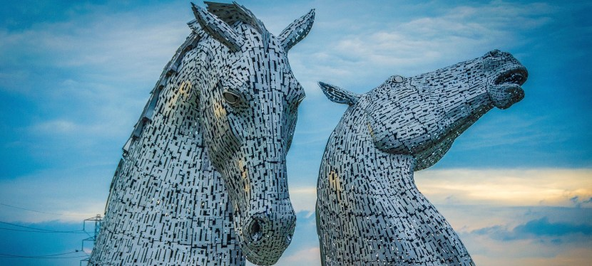 What the Kelp?!  The Kelpies of Falkirk, Scotland
