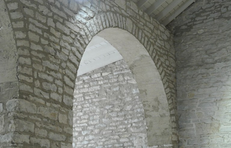 A stone archway.