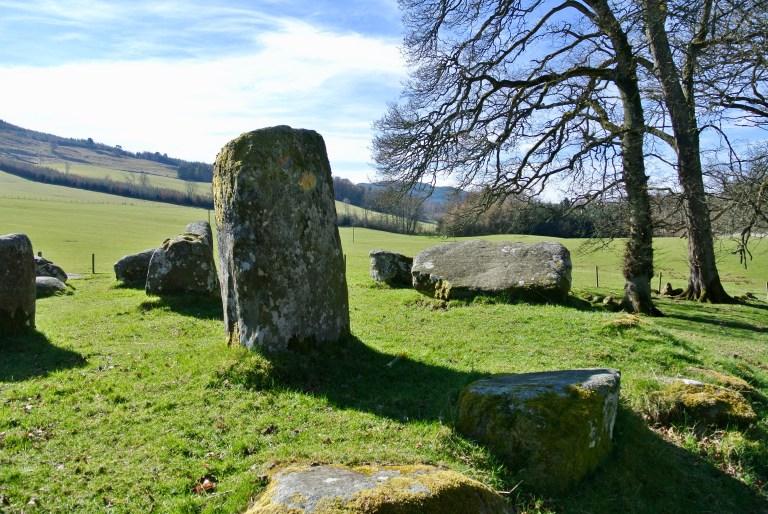 A standing stone at Croft Moraig Stone Circle.