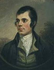 A portrait of Robert Burns.