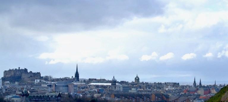 Edinburgh Castle and part of the Edinburgh skyline.