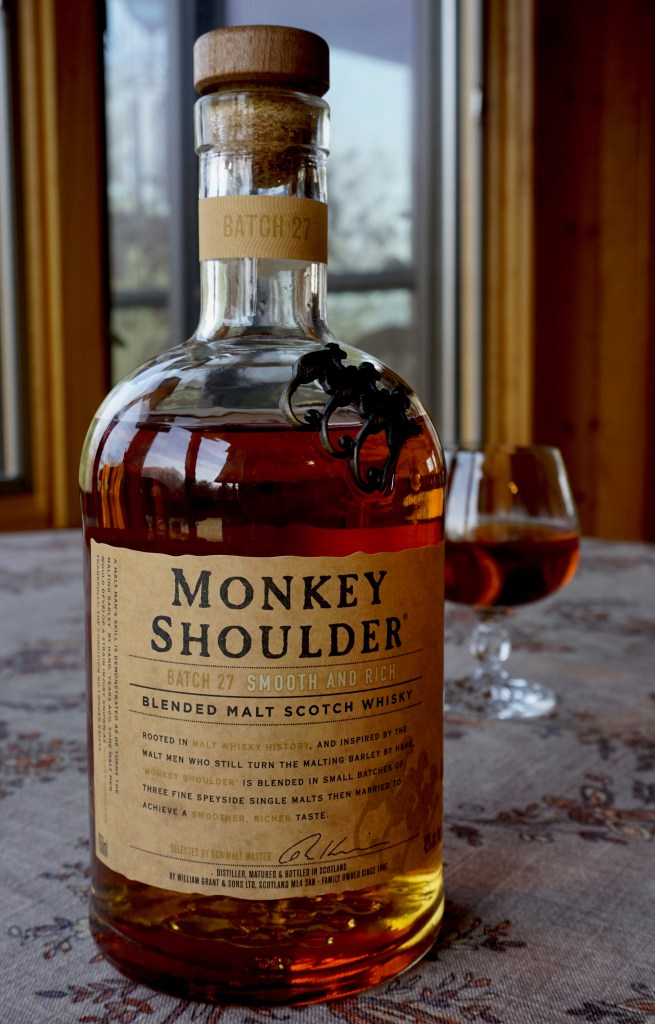 A bottle of Monkey Shoulder.