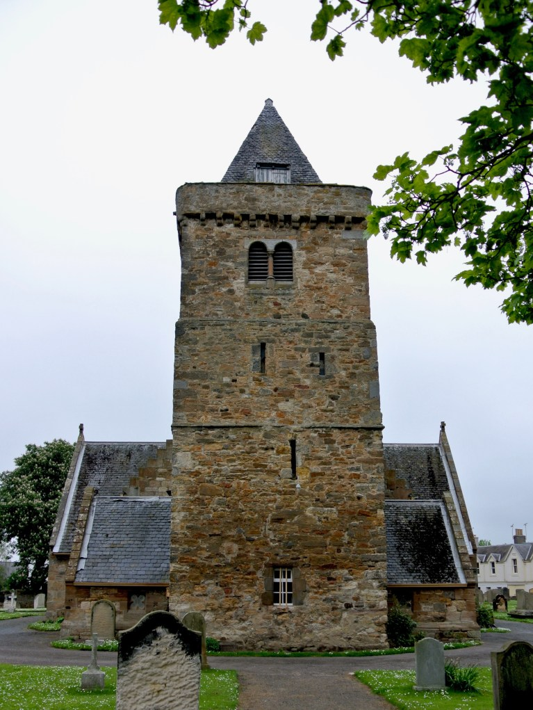 The watch tower at Aberlady Parish Church.