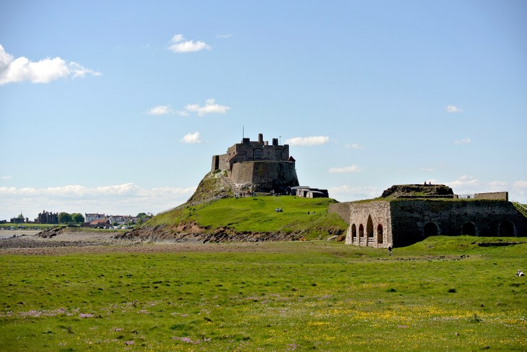 Lindisfarne Castle and outbuildings.