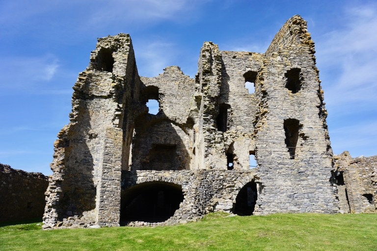 Auchindoun Castle in Scotland.