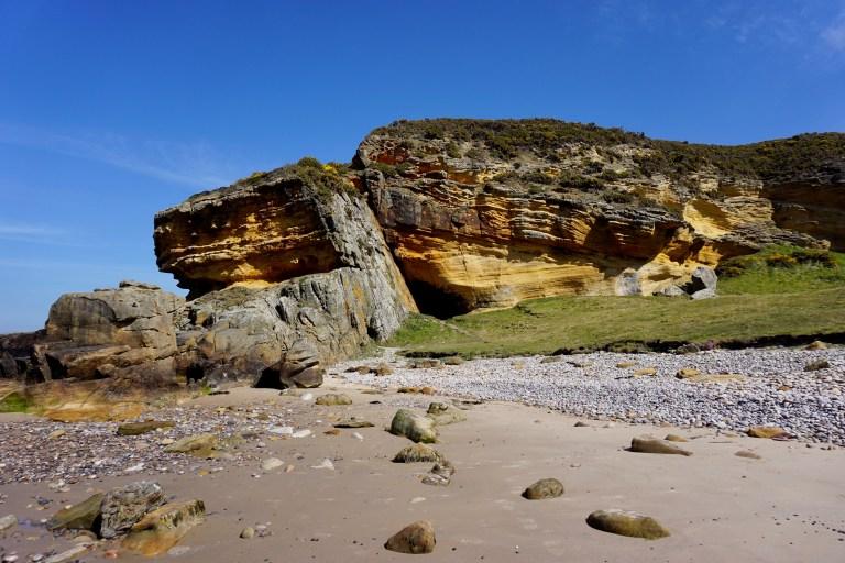 A coastal rock formation.
