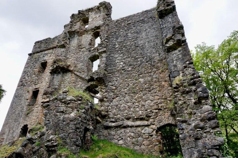 Invergarry Castle ruin.