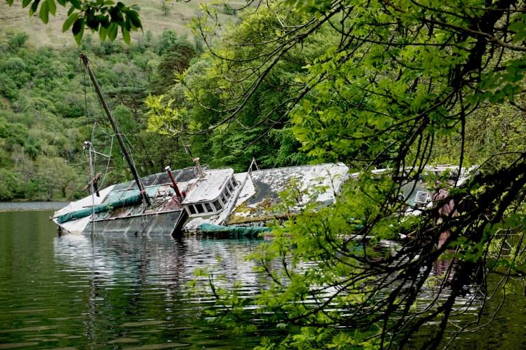 A shipwreck on Loch Oich.