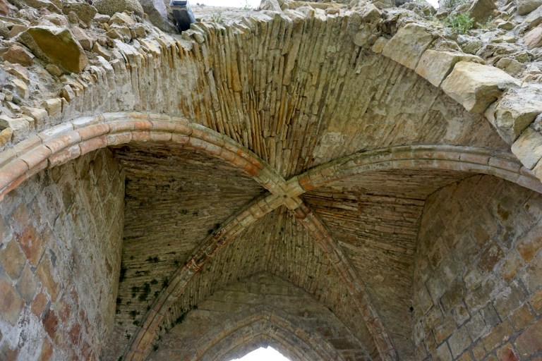Vaulting in the upper floor of Kinloss Abbey.