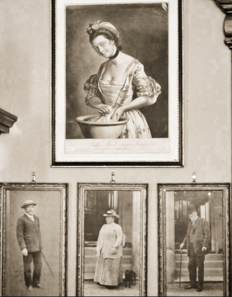 Vintage photos of people who lived and worked at Lauriston Castle.