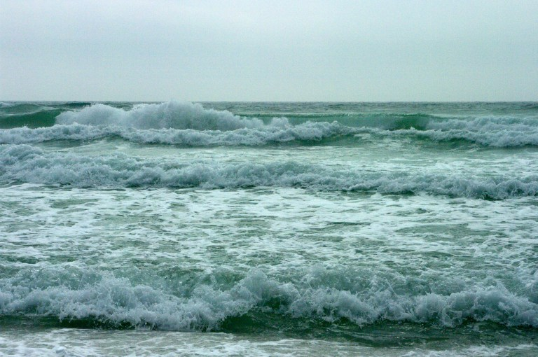 Rough surf in the Gulf of Mexico.