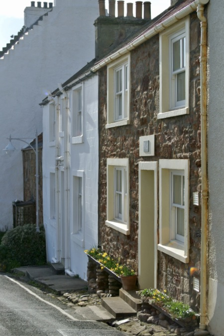 Old cottages in Crail, Scotland.
