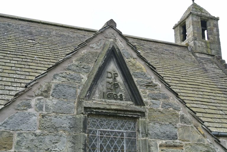A close up of St. Fillan's Church.