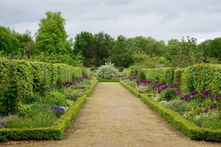 A manicured garden path.