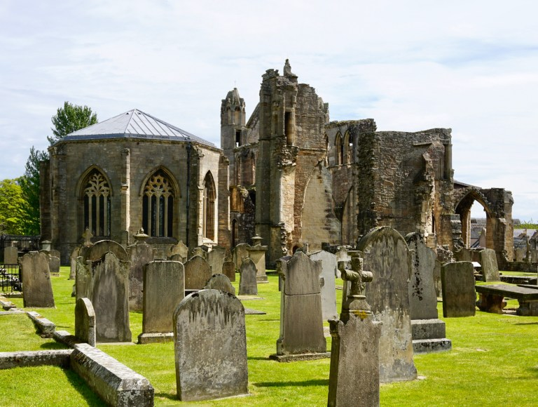 Elgin Cathedral in Elgin, Scotland.