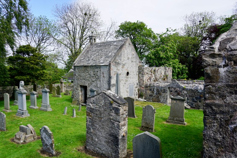 A burial enclosure at St. Talorgan's.