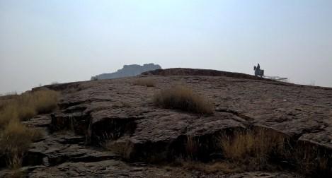 Mehrangarh fort, as seen from Jaswant Thada, Jodhpur