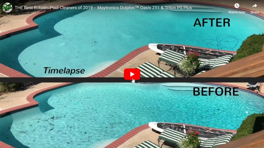 YouTube Screenshot of Robotic Pool Cleaner video