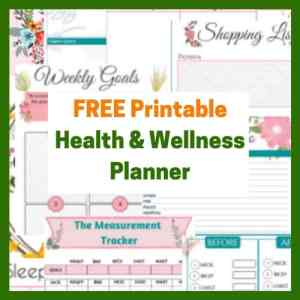 printable weight loss planner