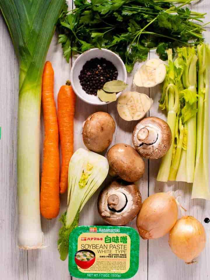 vegetables for making stock