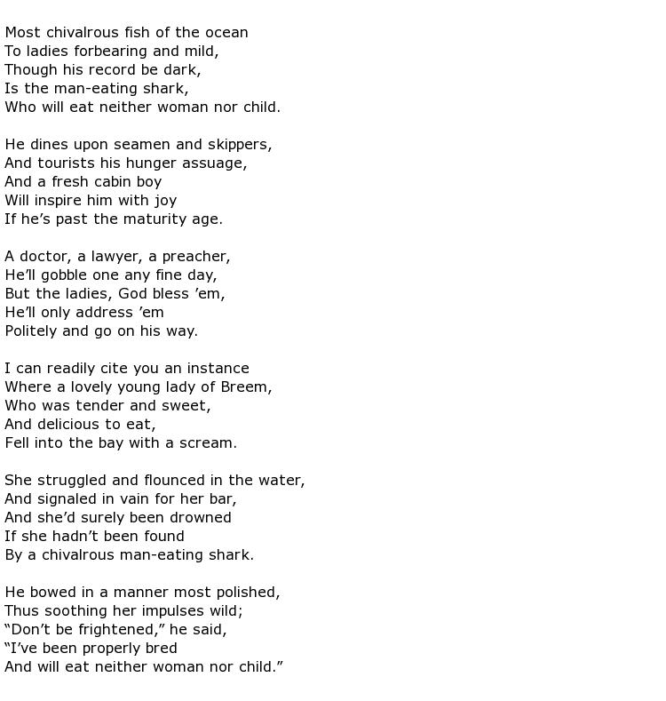 Wallace Irwin Poems > My Poetic Side