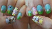 easter nails polished
