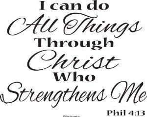 """Christ Strengtheneth Me"" WEEK #25"