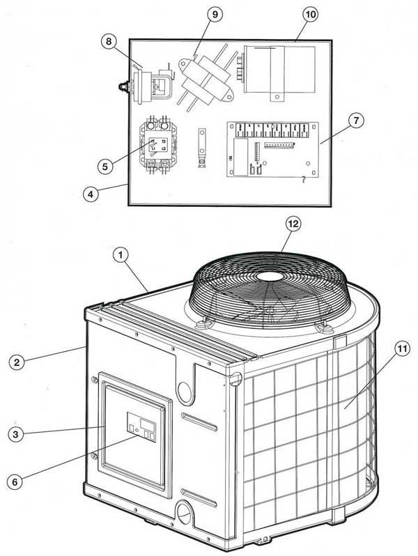 Heat Pump Parts Diagram : parts, diagram, Hayward, Parts, Diagram
