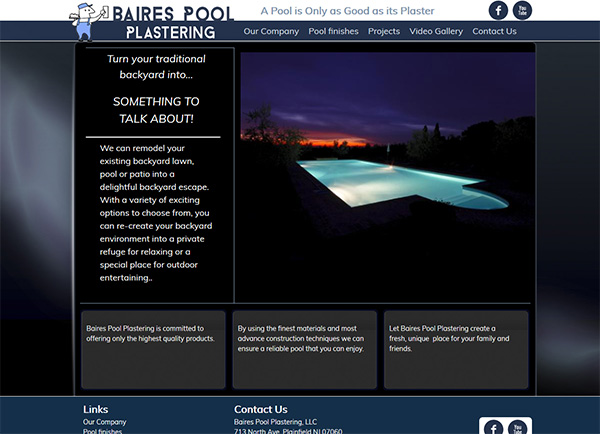 Baires Pool Plastering Custom Website