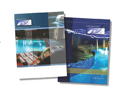 Custom Brochures of pools