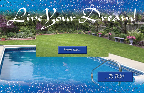 Before and After a pool addition to a backyard