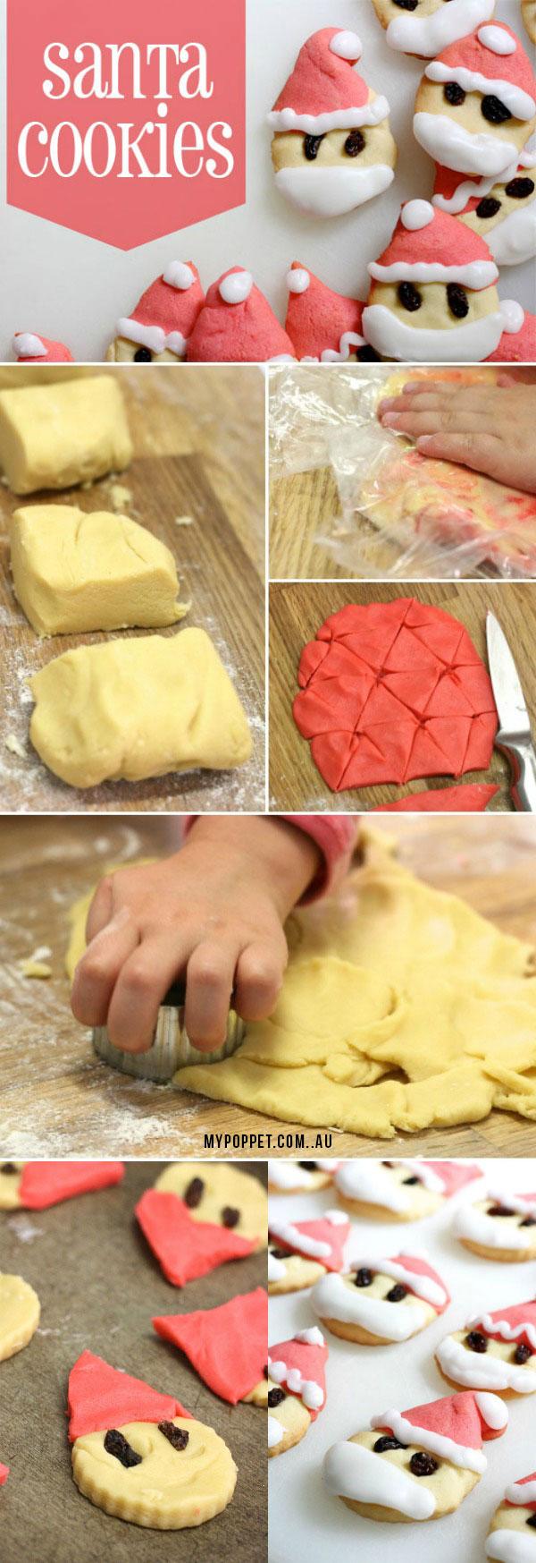 Santa Cookie recipe - mypoppet.com.au
