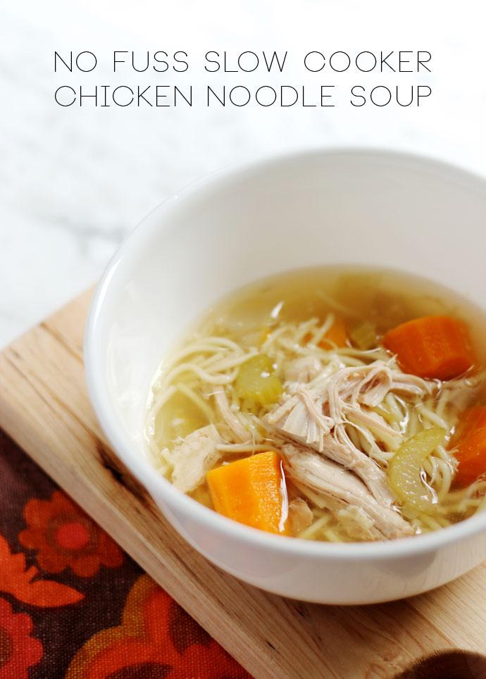 No Fuss Slow Cooker Chicken Noodle Soup Recipe mypoppet.com.au/living