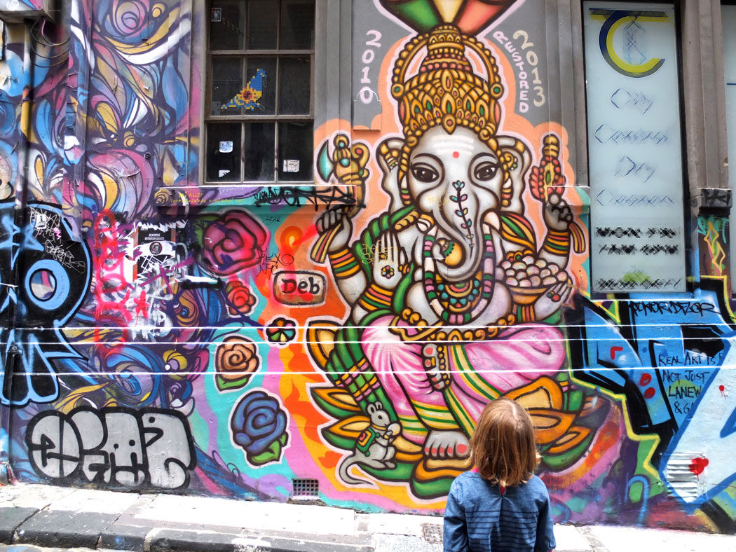 Street art Melbounre City Lanes