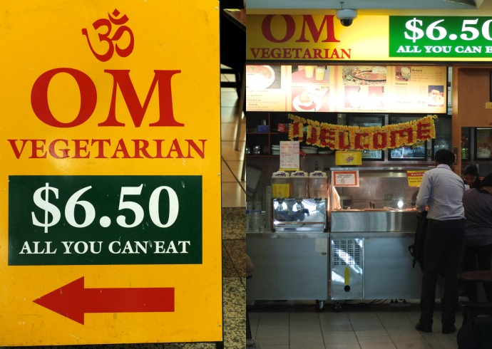 Cheap Eats in Melbourne - ALl you can eat vegetarian curry Om Vegetarian