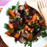 Roasted Butternut Squash, Beetroot & Walnut Salad