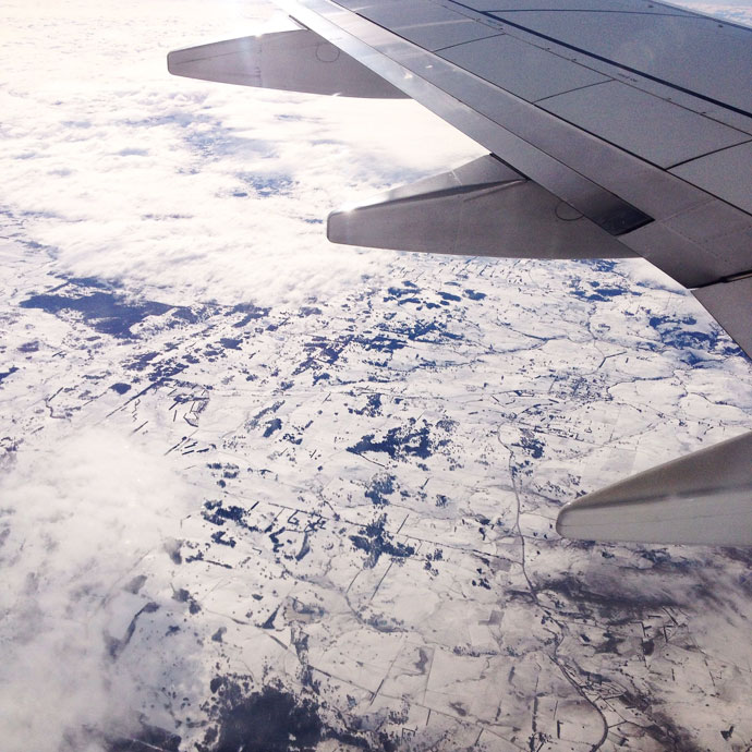 Snow on the ground over NSW