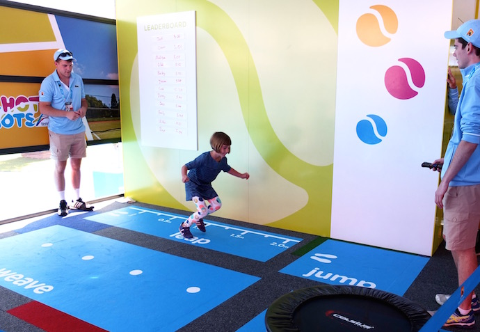 ANZ tennis Hot shots Kids Zone