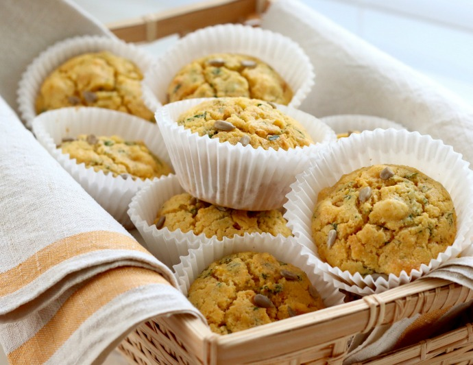 Polenta, Corn and Coriander (Cilantro) Muffin recipe - mypoppet.com.au