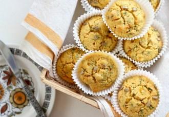 polenta cilantro corn muffin