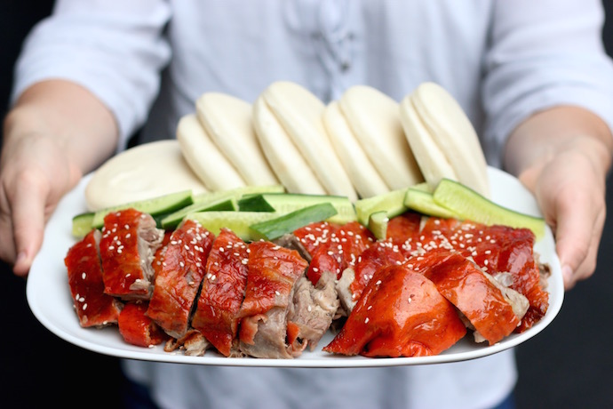Roast Chinese Duck with Bao buns