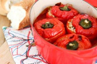 rice stuffed capsicum peppers