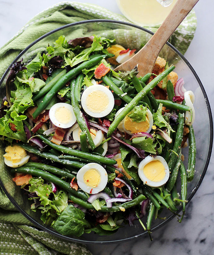 green bean and egg salad recipe