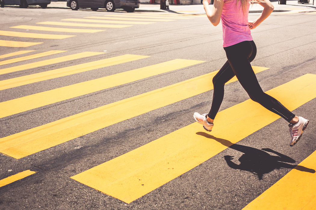 Movember - Get active for men's health - woman running